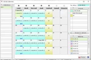 Yauta! SP Liste calendriers